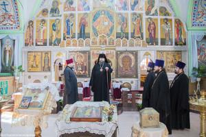 Глава Волгодонской епархии епископ Волгодонский и Сальский Корнилий посетил храм св. вмч Георгия Победоносца пос Сандата