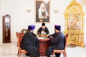 Глава Волгодонской епархии епископ Волгодонский и Сальский Корнилий возглавил совещание духовенства.