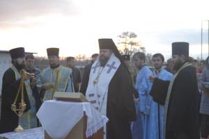 Освящение купола с крестом. Хутор Лозной. 15.11.2015 г.