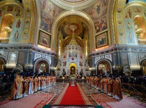 24 мая 2016 года, Глава Волгодонской епархии епископ Волгодонский и Сальский Корнилий принял участие в Божественной литургии г. Москва