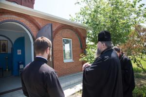 18 мая 2016 года, Глава Волгодонской епархии епископ Волгодонский и Сальский Корнилий посетил часовню Всех Святых.
