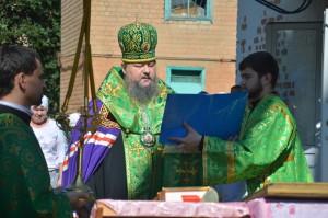 Епископ Волгодонский и Сальский Корнилий совершил чин освящения нового креста и купола 24.06.2016 г.