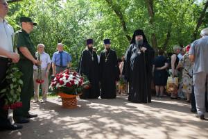 Епископ Волгодонский и Сальский Корнилий принял участие в мероприятии приуроченном дню памяти и скорби. Волгодонск.