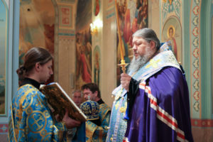 1.07.2017г. епископ Волгодонский и Сальский Корнилий молился за божественной литургией г. Волгодонск
