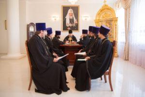 4.07.2017 г. Епископ Волгодонский и Сальский Корнилий возглавил совещание.