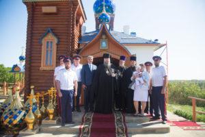 22.09.2017 г. епископ Волгодонский и Сальский Корнилий совершил чин освящение креста и купола ст. Старозолотовская.