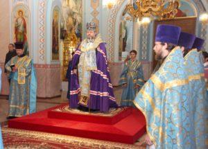 Епископ Волгодонский и Сальский Корнилий совершил молебное пение пред Иверской иконой Божией Матери