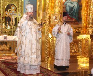 Епископ Корнилий совершил Божественную литургию и возглавил заупокойную панихиду в соборе Рождества Христова