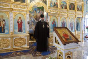 16.10.2017 года, епископ Волгодонский и Сальский Корнилий посетил храм в честь Покрова Пресвятой Богородицы станицы Кутейниковская.