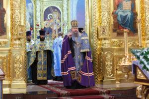 6.11.2017г. епископ Волгодонский и Сальский Корнилий молился за божественной литургией г. Волгодонск