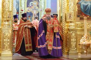 8.11.2017г. епископ Волгодонский и Сальский Корнилий молился за божественной литургией г. Волгодонск