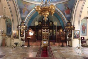 14 декабря 2017 года епископ Волгодонский и Сальский Корнилий молился за богослужением в храме в честь св. мц. царицы Александры Русской Духовной Миссии г. Иерусалим.