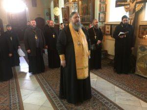 13 декабря 2017 года епископ Волгодонский и Сальский Корнилий совершил панихиду в храме Казанской иконы Божией Матери Горненского женского монастыря в Иерусалиме.