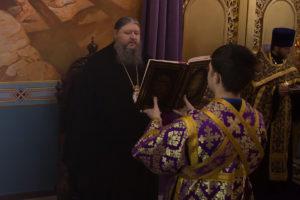 23.02.2018г. епископ Волгодонский и Сальский Корнилий молился за уставным богослужением г. Волгодонск