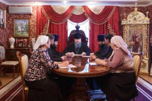 7.02.2018 г. Епископ Волгодонский и Сальский Корнилий возглавил совещание на епархиальном подворье.