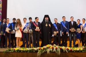 15.02.2018 года епископ Волгодонский и Сальский Корнилий принял участие в торжественной церемонии вручения дипломов выпускникам ВИТИ НИЯУ МИФИ.