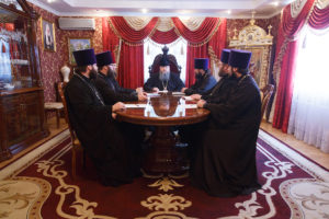 28.03.2018 г. Епископ Волгодонский и Сальский Корнилий возглавил совещание на епархиальном подворье.