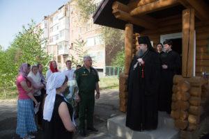 06.05.2018 г. епископ Волгодонский и Сальский Корнилий посетил часовню вмч.Георгия Победоносца г.Сальск