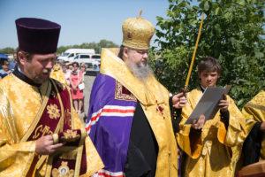 22.06.2018 года Преосвященнейший Корнилий, епископ Волгодонский и Сальский, совершил освящение поклонного креста