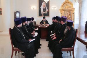 10.07.2018 года епископ Волгодонский и Сальский Корнилий провел совещание с духовенством Волгодонской епархии.