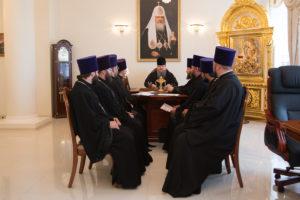 23.07.2018 г. епископ Волгодонский и Сальский Корнилий провел совещание с духовенством Волгодонской епархии.