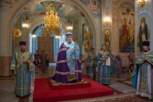 25.7.2018г. епископ Волгодонский и Сальский Корнилий молился за божественной литургией г. Волгодонск