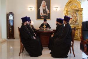 7.08.2018 г. епископ Волгодонский и Сальский Корнилий провел совещание с духовенством Волгодонской епархии.