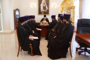 21.08.2018 года епископ Корнилий провел совещание с духовенством Волгодонской епархии.