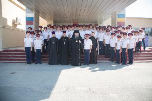 21.09.2018г. епископ Корнилий посетил казачий кадетский корпус г. Морозовска