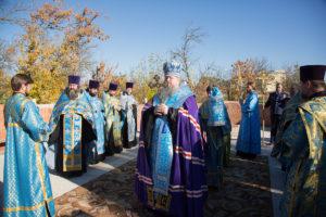 13 октября 2018 года епископ Корнилий совершил закладку камня в основание строящегося храма