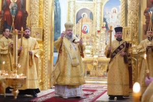 29.10.2018 года епископ Корнилий молился за Божественной литургией