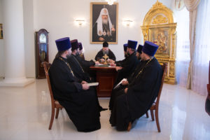 2.10.2018 года епископ Корнилий возглавил совещание с духовенством Волгодонской епархии.