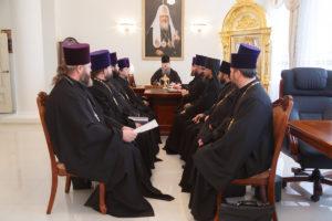 23.11.2018 года в здании епархиального управления епископ Корнилий провел совещание с духовенством Волгодонской епархии.