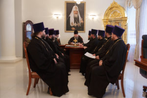 27.11.2018 г. епископ Корнилий провел совещание с духовенством Волгодонской епархии.