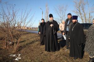 12.12.2018г. епископ Волгодонский и Сальский Корнилий посетил место будущего строительства храма