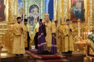 31.12.2018 года епископ Корнилий молился на вечернем богослужении г.Волгодонск