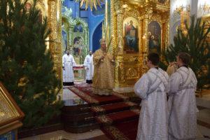7.01.2019 г. епископ Корнилий совершил Божественную литургию