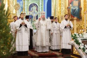 13.01.2019 г. епископ Корнилий совершил Всенощное бдение