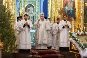 19.01.2019 г. епископ Корнилий совершил Всенощное бдение