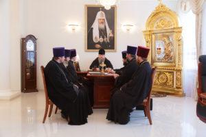 22 января 2019 года епископ Корнилий провел совещание с духовенством Волгодонской епархии