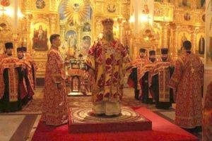 Всенощное бдение в кафедральном соборе Рождества Христова 9.02.2019