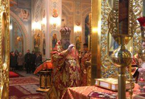 Божественная литургия в соборе Рождества Христова (Волгодонск, 10.02.2019)