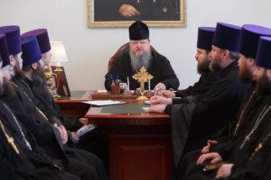26.02.2019 г. епископ Корнилий провел совещание с духовенством Волгодонской епархии
