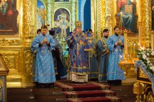 14.02.2019 г. епископ Корнилий совершил Всенощное бдение в кафедральном соборе Рождества Христова