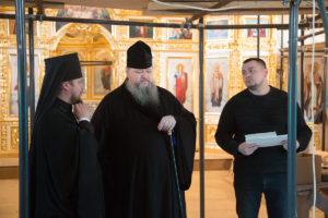 22.02.2019 г. епископ Корнилий провел рабочее совещание по вопросу росписи храма