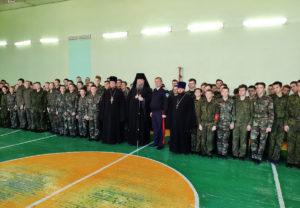 20.02.2019 г. епископ Корнилий посетил казачий кадетский корпус пос. Орловский.