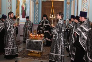 Великопостное богослужение в кафедральном соборе Рождества Христова (Волгодонск)