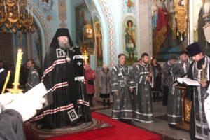 Чтение великого покаянного канона прп Андрея Критского в соборе Рождества Христова