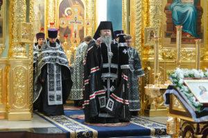 14.03.2019 г. епископ Корнилий молился за великопостным богослужением
