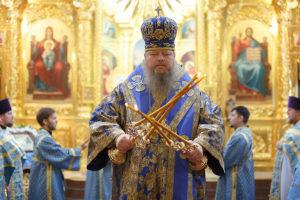7 апреля 2019 года епископ Корнилий совершил Божественную литургию в кафедральном соборе Рождества Христова